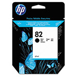 HP 82 Black Inkjet Cartridge, Model CH565A