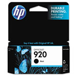HP 920 Black Inkjet Cartridge, Model CD971AN140, 420 Page Yield
