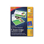 Avery Clean Edge - Two-sided Matte Coated Business Cards - 120 Card(s)