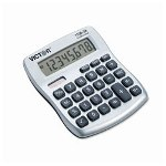 Victor 8 Digit Mini Desktop Calculator with Built-In AntiMicrobial Protection