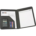 Victor Portfolio Pad Holder with 8 Digit CalculatorBlack