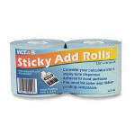 "Victor Sticky Bulk Adding Machine Roll, 2-1/4""x100', 2/PK, Light Blue"