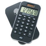 Victor 8 Digit Handheld Pocket Calculator with Built-In AntiMicrobial Protection