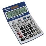 Victor Two-Line Digital Calculator, Blue/White