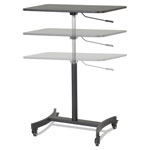 Victor High Rise Collection Mobile Adjustable Standing Desk, 30 3/4 x 22 x 44, Black
