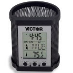 "Victor ""Smart Cup"" Pencil Holder with Electronic DisplayBlack Mesh"