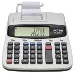 Victor 12 Digit Commercial Printing Calculator with Prompt Logic & Innovative 3 Line Display