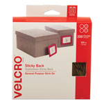 "Velcro Sticky Back® Hook & Loop Dot Rolls in Dispenser Box, Beige, 3/4"", 200 Sets/Roll"