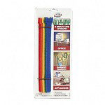 "Velcro Get A Grip® Self Gripping Reusable Straps, 8""x1/2"", Multicolored, 5 Straps/Pack"