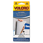 Velcro Removable Fasteners for Cubicles, Pre Cut Chevrons, 1 1/8 x 3/4, White, 48/Pack