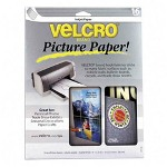 "Velcro Hangable Picture Paper with Fastener, 8-1/2"" x 11"" 16/Pack, White"
