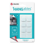"Velcro HANGables Removable Wall Fasteners, 0.25"" x 7.25"", White, 16/Pack"