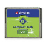 Verbatim CompactFlash Erasable Memory Card, 2GB