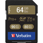 Verbatim Memory Card, SDXC, 90MB/s Read Speed, 64GB