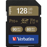 Verbatim Memory Card, SDXC, 90MB/s Read Speed, 128GB