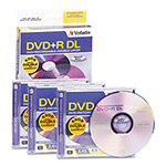 Verbatim DVD+R DL Recordable Discs with Jewel Cases, 8.5 GB, Silver, 3/Pack