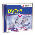 Verbatim 1PK DVD-R 16X 4.7GB JEWEL CASE