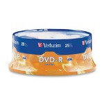 Verbatim DVD R Recordable Discs, 4.7GB, 25 per Spindle Pack