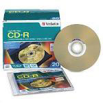 Verbatim CD R 80MIN 700MB 52X LightScribe 20pk Slim Case