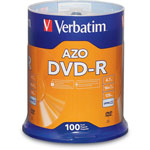 Verbatim DVD R Recordable Discs, 4.7GB, 100 per Spindle Pack