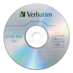 Verbatim DVD-RW, 4.7GB, 4X, 30/PK Spindle