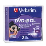 Verbatim Mini DVD+R DL 2.6GB 2.4X Branded 3pk Jewel Case