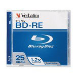 Verbatim BD RE 25GB 2X Branded 1pk Jewel Case