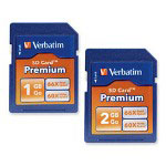 Verbatim Premium SD Card, 66x Read/60x Write Speed, 2GB