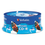 Verbatim CD-R, 52X, 700Mb, Hub Inkjet Printable, White