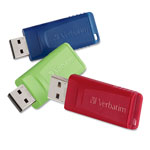 Verbatim Store 'n' Go USB Flash Drive, 16GB, Blue, Green, Red, 3/Pack