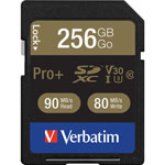 Verbatim Memory Card, SDXC, 90MB/s Read Speed, 256GB
