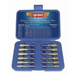 Vim Products 12 Piece Metric Power Drive Nut Setter Set with Magnetic and Hollow Point Drivers