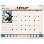 Visual Organizers Wildlife Monthly Desk Pad Calendar, 22 x 17, Full Color