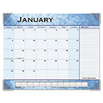 "Visual Organizers Monthly Desk Pad Planner, 22"" x 17"", Slate Blue"