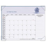 "Visual Organizers Panoramic Motivational Monthly Desk Pad Calendar, 22"" x 17"""