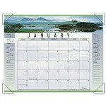 "Visual Organizers Panoramic Landscape Monthly Desk Pad Calendar, 22"" x 17"""