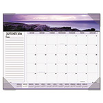 "Visual Organizers Panoramic Seascape Monthly Desk Pad Calendar, 22"" x 17"""