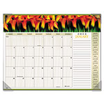 "Visual Organizers Panoramic Floral Monthly Desk Pad Calendar, 22"" x 17"""