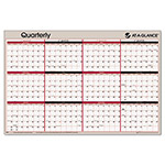 Visual Organizers Reversible Write On/Wipe Off Classic Dated Quarterly Wall Organizer, 36 x 24