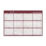 Visual Organizers Reversible Write On/Wipe Off Monthly Wall Organizer, 48 x 32, Burgundy/Navy
