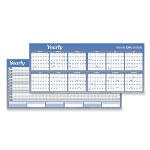 Visual Organizers Write On/Wipe Off Six Month Format Yearly Wall Organizer, Dated, 60 x 26