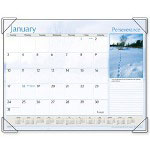 "Visual Organizers Monthly Desk Cal., 12-Mth Jan-Dec, Inspirational , 22"" x 17"""