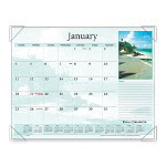 "Visual Organizers Monthly Desk Calendar, 12-Mth Jan-Dec, Scenic, 22"" x 17"""
