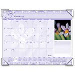 "Visual Organizers Monthly Desk Calendar, 12-Month Jan-Dec, Antique Floral, 22"" x 17"""