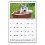 "Visual Organizers Monthly Wall Calendar, 1 Year, Puppy Images, 15-1/2""x22-3/4"""