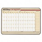 Visual Organizers Designer Series Erasable 60 Day Planner Board with 4 Markers, 40 x 26