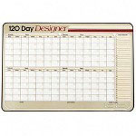 "Visual Organizers Erasable Wall Calendar, 120 Day Grid, Undated, 40""x26"""