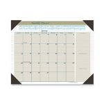 "Visual Organizers Executive Monthly Desk Pad Calendar, 22"" x 17"", Gray/Blue"