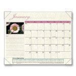 "Visual Organizers 2009 Floral Scenes Monthly Desk Pad Calendar, 22"" x 17"""