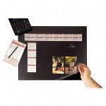"Visual Organizers Desk Pad, 24""Wx19""D, Black"